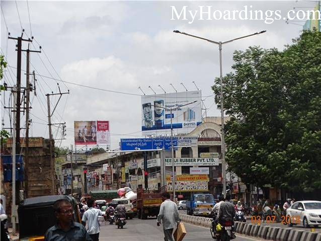 Hoardings on Ranigung Circle Bombay Hotel in Hyderabad, Hoardings Company in Hyderabad