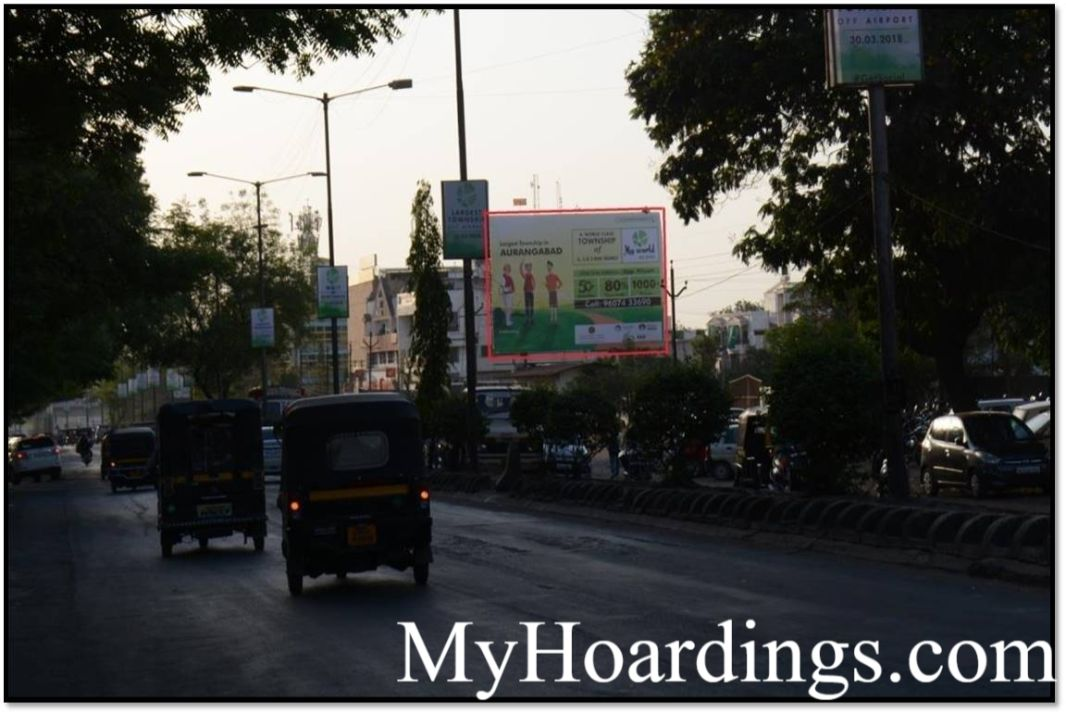 Outdoor advertisement Hoardings in Tapdiya Ground Facing To Kranti Chowk Aurangabad, Best Hoardings outdoor advertising company Maharashtra