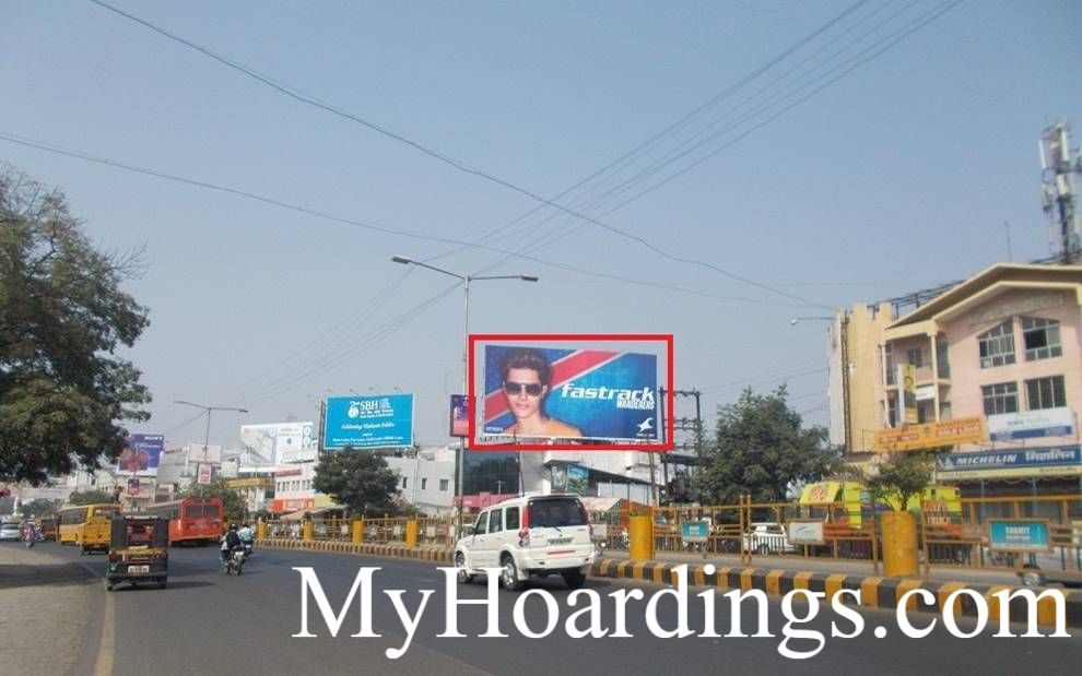 Hoardings Advertising and Brand Promotion Agency Atul Suzuki Akashwani Chowk in Aurangabad