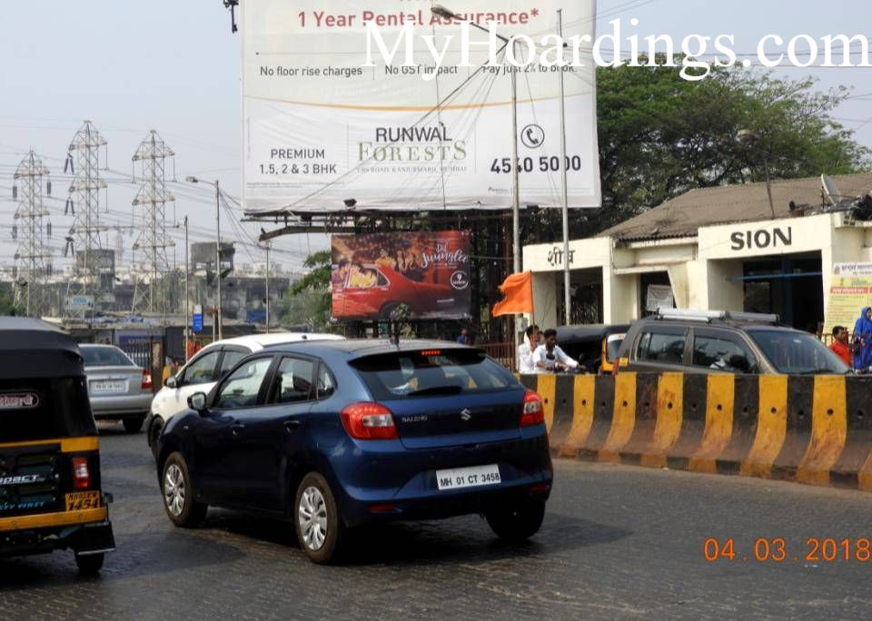 How to Book Hoardings in Mumbai, Best outdoor advertising Agency Sion On ROB Towards BKC Mumbai