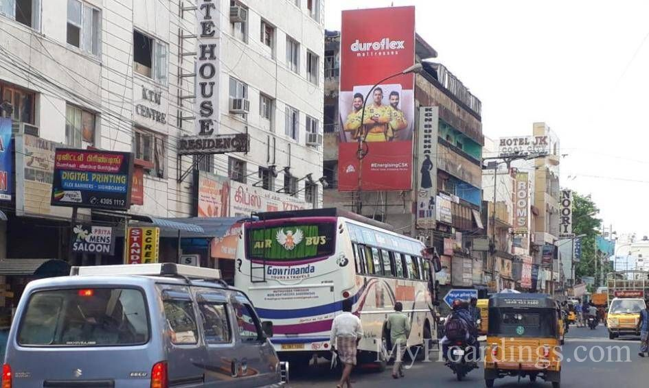 Outdoor Media Promotion advertising in Triplicane Chennai, Hoardings Agency in Chennai