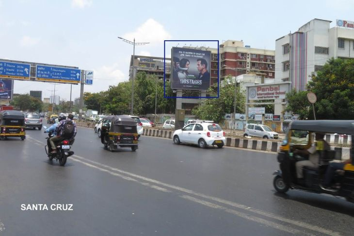 Hoardings on W.E.H,before Vakola FlyOver in Mumbai,Mumbai Billboard advertising