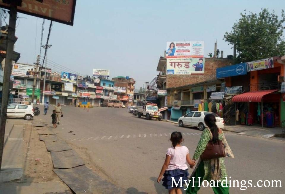 Hoardings at Ghumarwin Main Market in Bilaspur, Best Outdoor Advertising Company Bilaspur