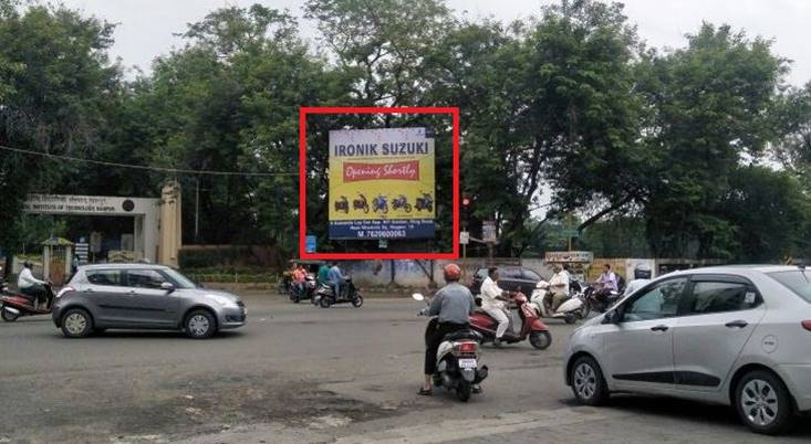 Outdoor advertisement in Nagpur, Unipole company VRCE Gate Abhaynkar Nagar Square in Nagpur, Hoardings agency