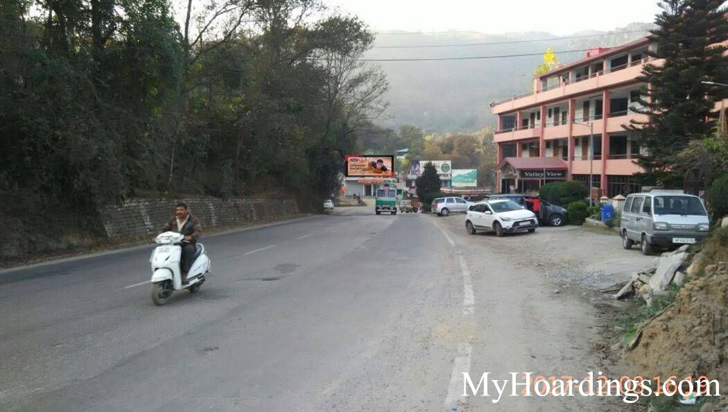 Hoardings at Vaily View Hotel  in Mandi, Best Outdoor Advertising Company Mandi