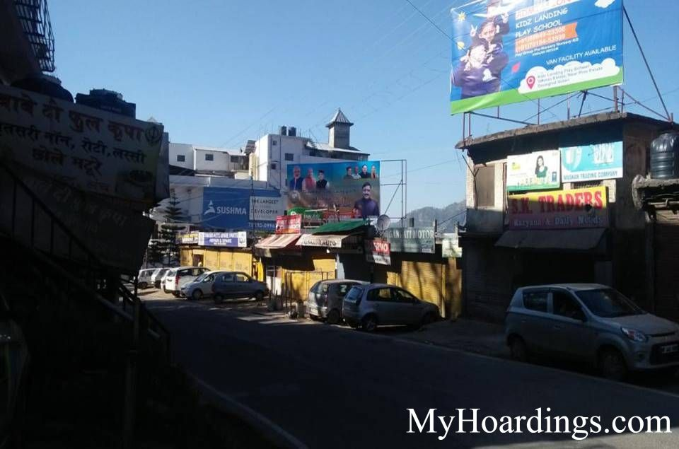 OOH Billboard Agency in India, Hoardings Advertising in Barog Main Market Solan