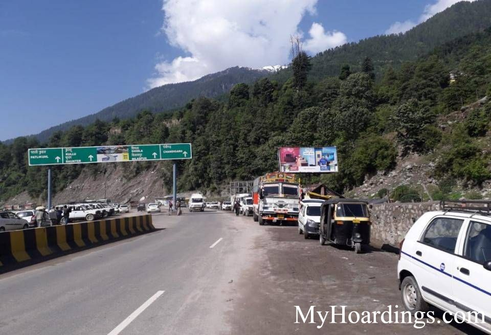 Hoardings Agency at Volvo Parking Rohtang Road in Manali, Outdoor Media Agency Manali