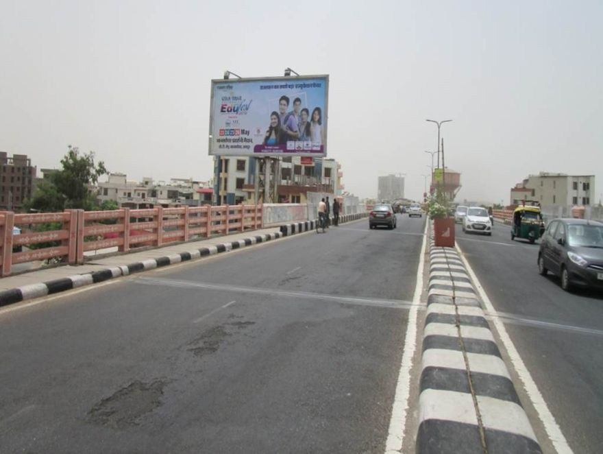 Rajasthan Outdoor Publicity| Unipoles at Saras Flyover Jaipur Rajasthan