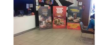 Standee Ads in McDonalds outlets in Pune.How to do branding in McDonalds stores in Pune?