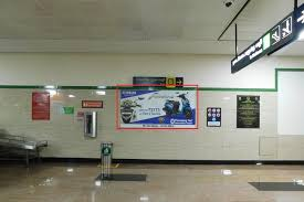 Advertising in Kilpauk metro station, Wall Wrap Advertising in Chennai Metro Station Chennai