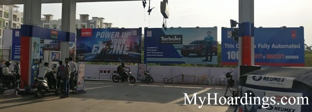 Petrol Pump Agency in India, Billboard Advertisement at Fuel Pumps Imphal