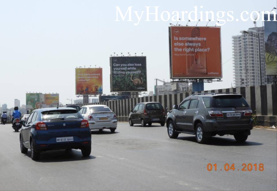 Outdoor advertisement Hoardings in Mumbai, Best outdoor advertising company Bandra At WEH On ROB Mumbai