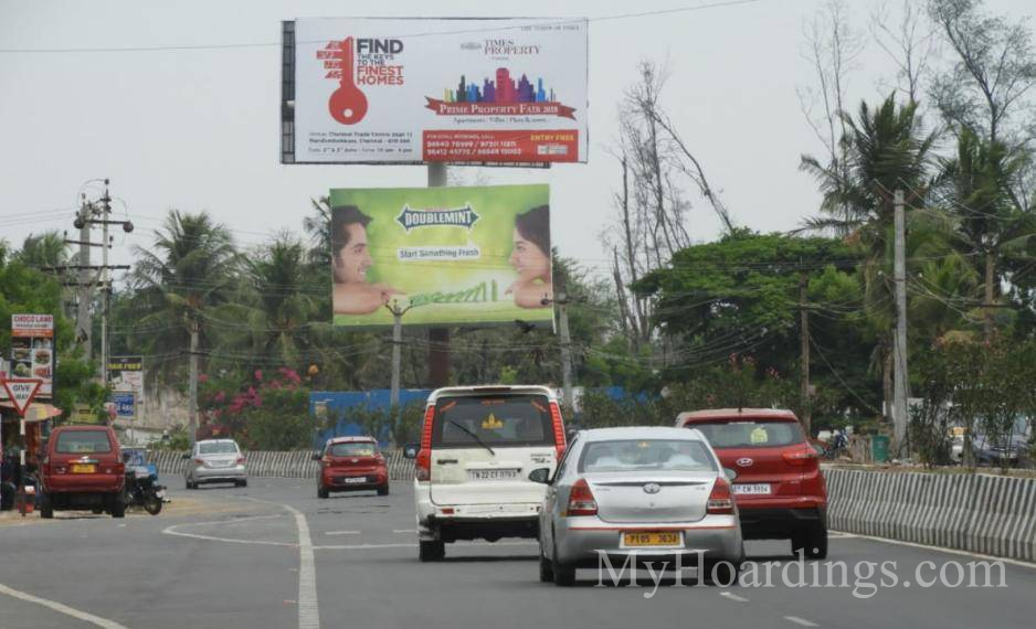 OOH Advertising Chennai, Outdoor publicity companies ECR MGM Dizee World, Hoardings Agency in Chennai