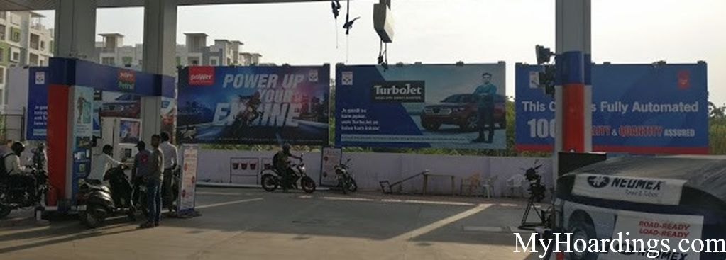 Hindustan petroleum pump advertising in Bangalore, How to advertise on Devika Gasoline Park Petrol pumps in Bangalore?