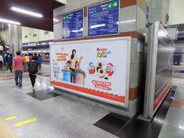 Indusind Bank Cyber City Metro Station Advertising in Gurgaon, Best Back Lit Panel metro Station Advertising Agency for Branding