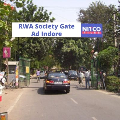 RWA Advertising in Sakar NRI City gate no 3 Indore, Apartment Gate Advertising Company in Indore