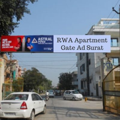 RWA Advertising options in Surya Residency Surat, Society Gate Ad company in Surat Gujarat
