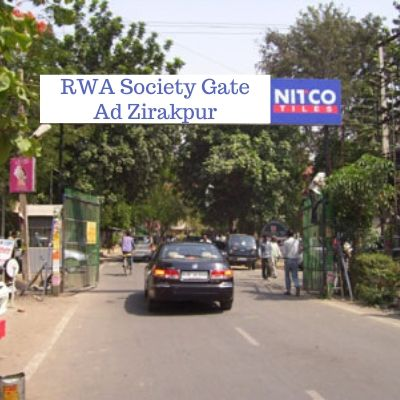 How to advertise in RWA Sushma Crescent Apartments Gate? RWA Apartment Advertising Agency in Zirakpur