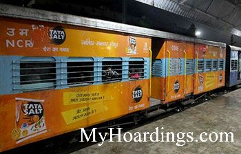 Train Vinyl Wrapping , Advertising on Ahimsa exp
