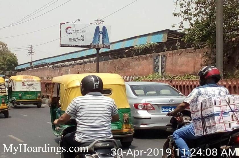 Outdoor advertisement Hoardings in Parcel Ghar Old Delhi Railway Station Facing Kodia Pull New Delhi, Best outdoor advertising company New Delhi