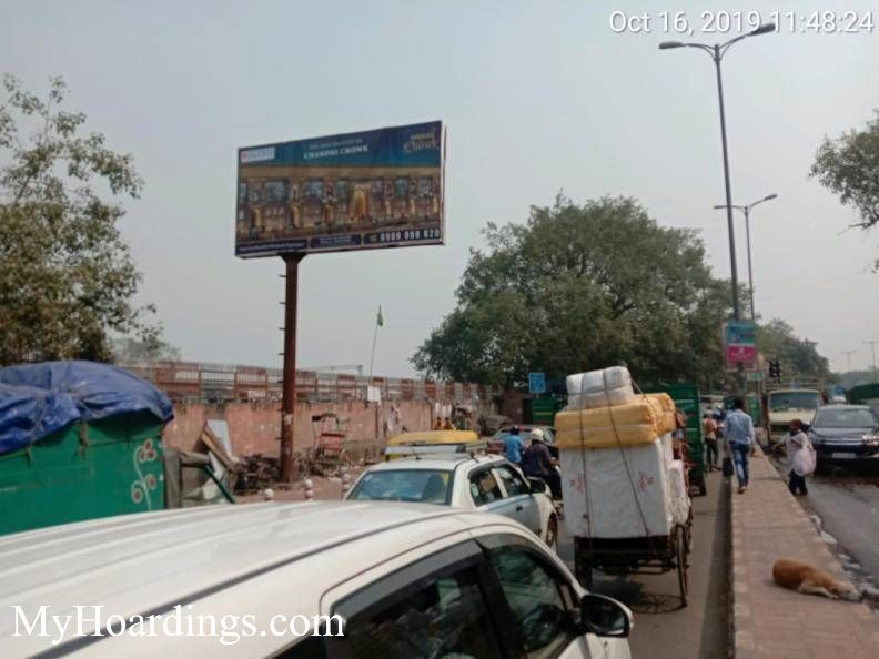 Unipole Church Mission Road towards Old Delhi Railway St. in New Delhi, New Delhi Billboard advertising, Flex Printers in Delhi