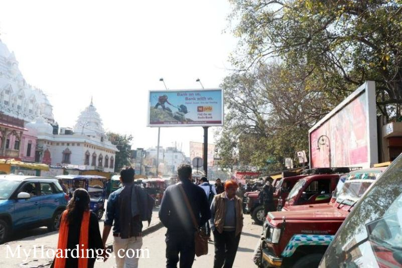 OOH Unipole Agency in India, Unipole Advertising in Digamber Jain Mandir towards Shessganj New Delhi, Unipole Agency in New Delhi