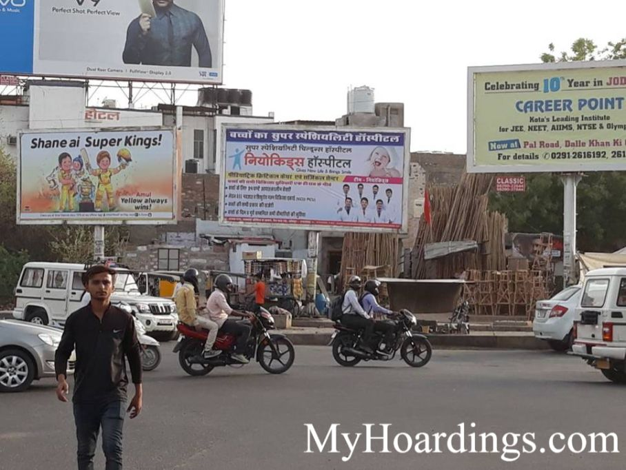 OOH Unipole Agency in India, Unipole Advertising in Main 12 Th Road Circle Jodhpur, Unipole Agency in Jodhpur