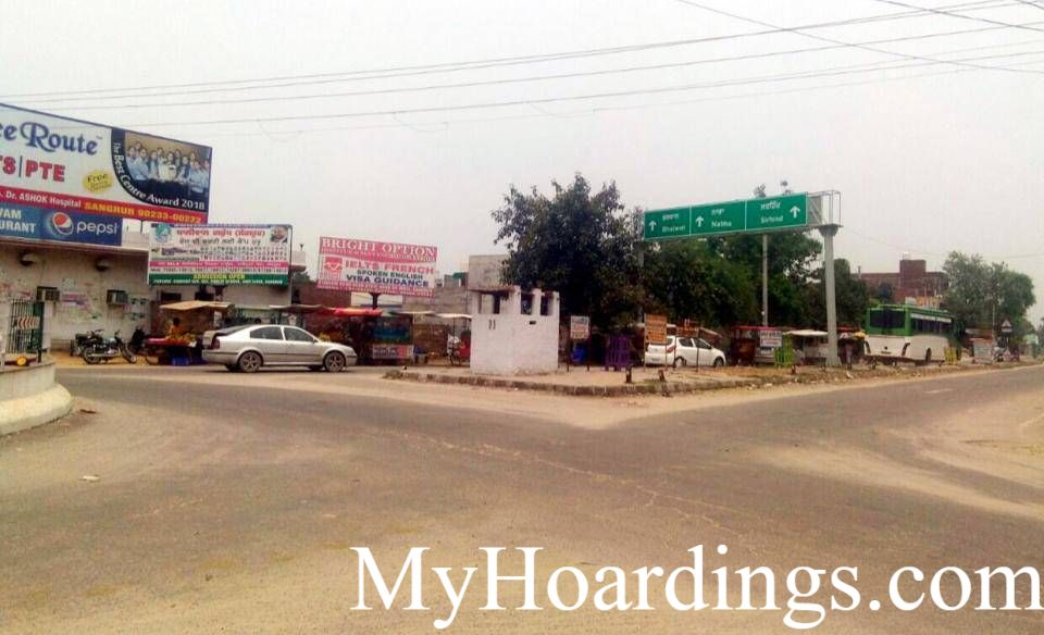 Outdoor Media Promotion Advertising in Nankiana Chowk in Sangrur, Unipole Agency at Nankiana Chowk in Sangrur