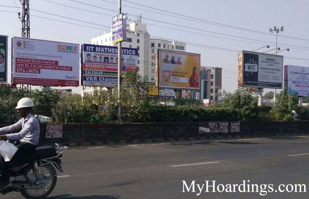Unipole Opposite City Mall 1 in Kota, Kota Billboard advertising, Hoarding in Rajasthan
