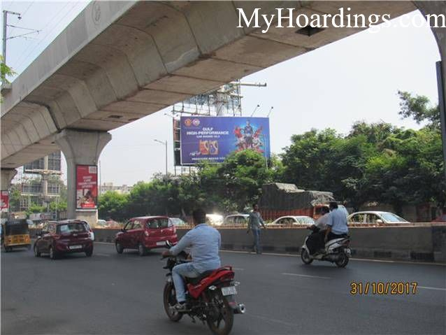 Outdoor Media Promotion Advertising in Hyderabad, Unipole Agency in S P Road Wesly Compound Hyderabad