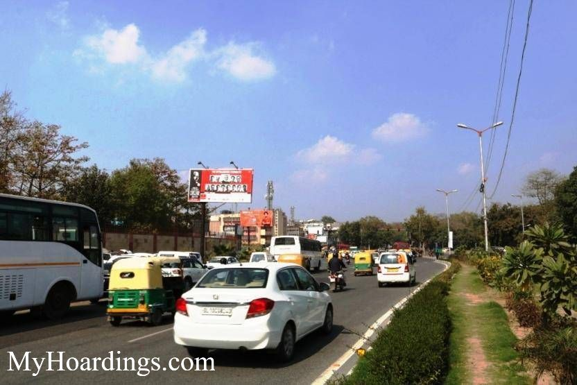 New Delhi Billboard advertising, Advertising company New Delhi, Flex Banner at Ambedkar Stadium Xing towards Delhi Gate
