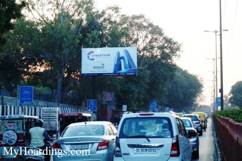 How to Book Hoardings in New Delhi, Best outdoor advertising company Kodia Pull xing towards Old Delhi Railway Station New Delhi