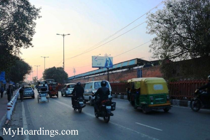 How to Book Hoardings in Kodia Pull xing towards Old Delhi Railway Station New Delhi, Best outdoor advertising Agency New Delhi