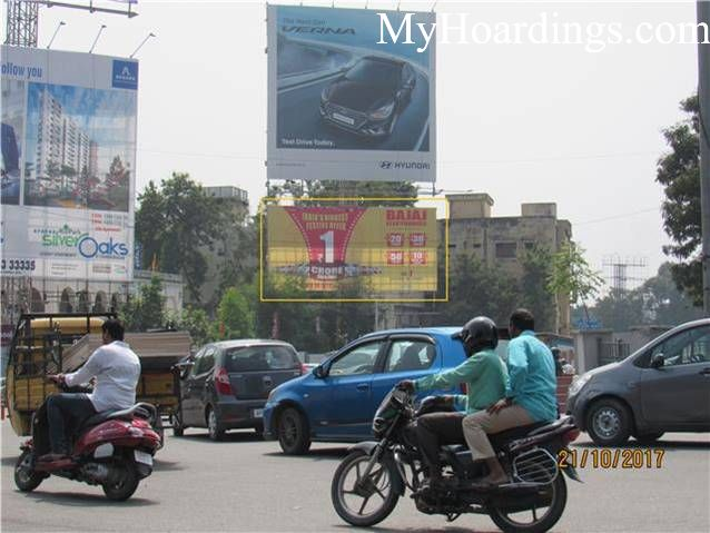 Outdoor Advertisement Unipole in Marredpally Circle St. John Church Hyderabad, Best outdoor advertising company Hyderabad
