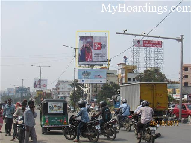 Best OOH Ad agency in Hyderabad, Unipole Company at Miyapur Inside Dominos Pizza Hyderabad
