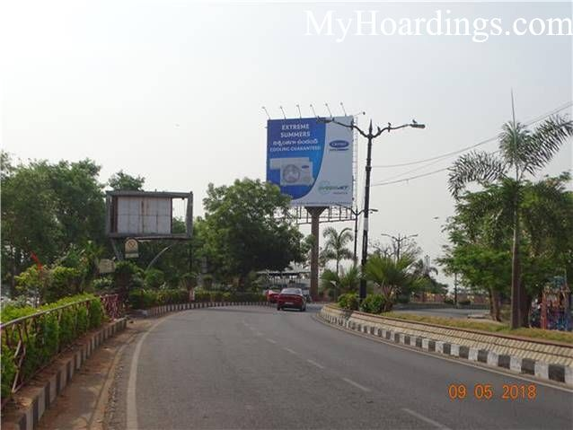 Unipole at Necklace Road Eat Street Hotel in Hyderabad, Best Outdoor Advertising Company Hyderabad