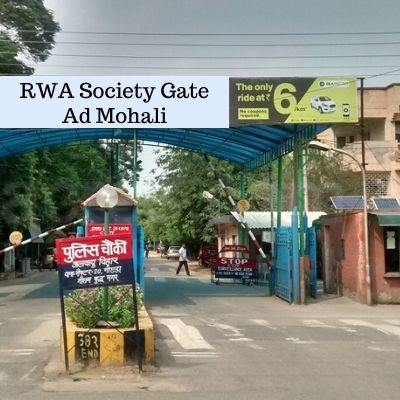 RWA Advertising Cost in Village Madanpur Mohali, Apartment Gate Advertising Company in Mohali