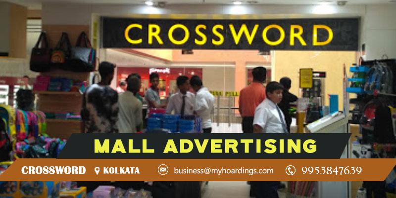 Advertisement in CrosswordKolkata,Mall Branding in Kolkata Crossword.Contact MyHoardings Shopping Mall Media in Kolkata,Mall Media Branding in Crossword