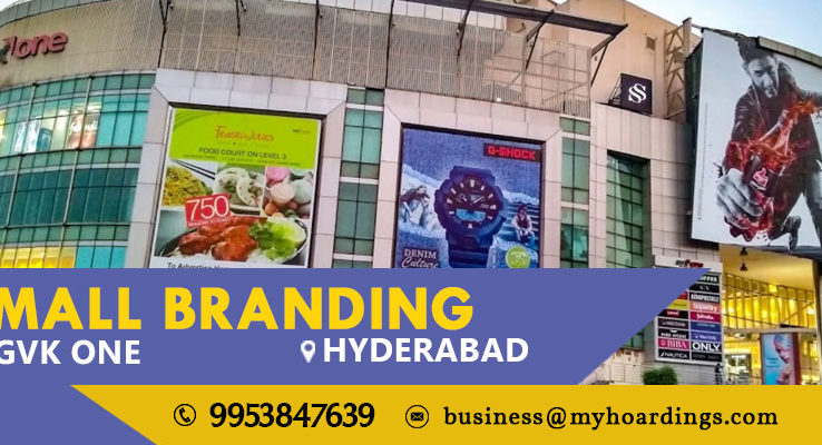 Mall Media in Hyderabad,Advertising in GVK One. BEST advertising agency for mall branding activation in Hyderabad. OOH advertising in India