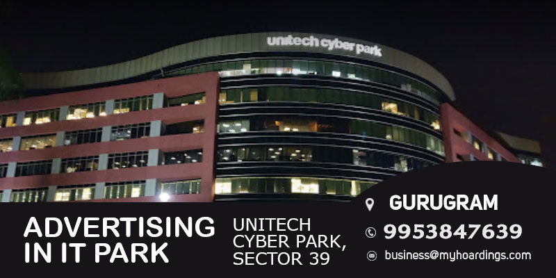 Advertising in Unitech Cyber Park. Gurugram.Branding in Gurugram Corporate parks.Kiosk advertising in company offices Gurgaon.
