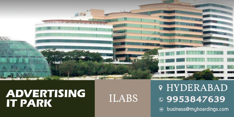 Office space branding in iLabs, Madhapur, Hyderabad.Advertising in Hyderabad Office spaces,Tech park branding in Hyderabad