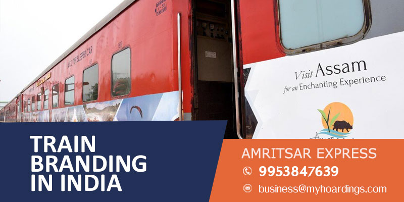 Advertising on Amritsar Express train,Train advertising and Maharashtra and Punjab