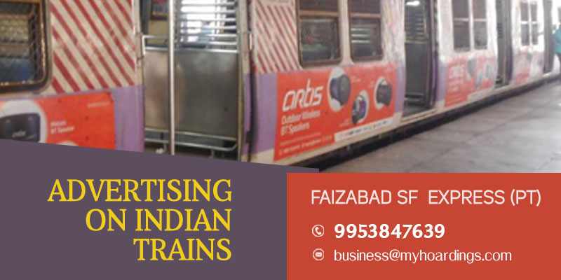 Train wrap branding on Faizabad SF Express (PT) Train
