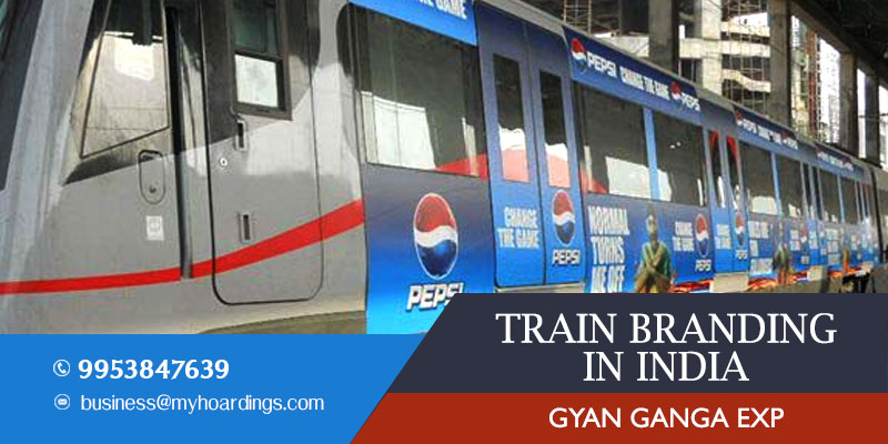 Train wrap branding on GYAN GANGA Express Train