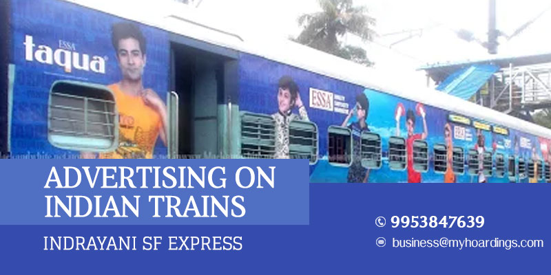 Train wrap branding on Indrayani SF Express Train