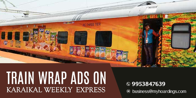 Karaikal Weekly Express Train wrap advertising