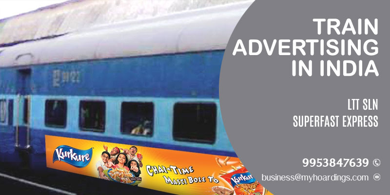 Advertise on LTT SLN Superfast Express train.Railway platform branding agency in Maharashtra and MP