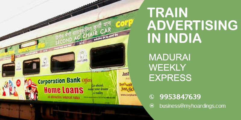 Branding on Madurai Weekly Express Train.Which company advertise on Indian Trains?