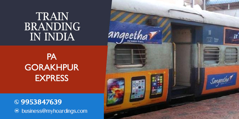 Pa Gorakhpur Express Train Branding.Indian railway train branding company