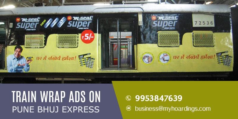Contact +91 995384-7639 for Pune Bhuj ExpressTrain Branding